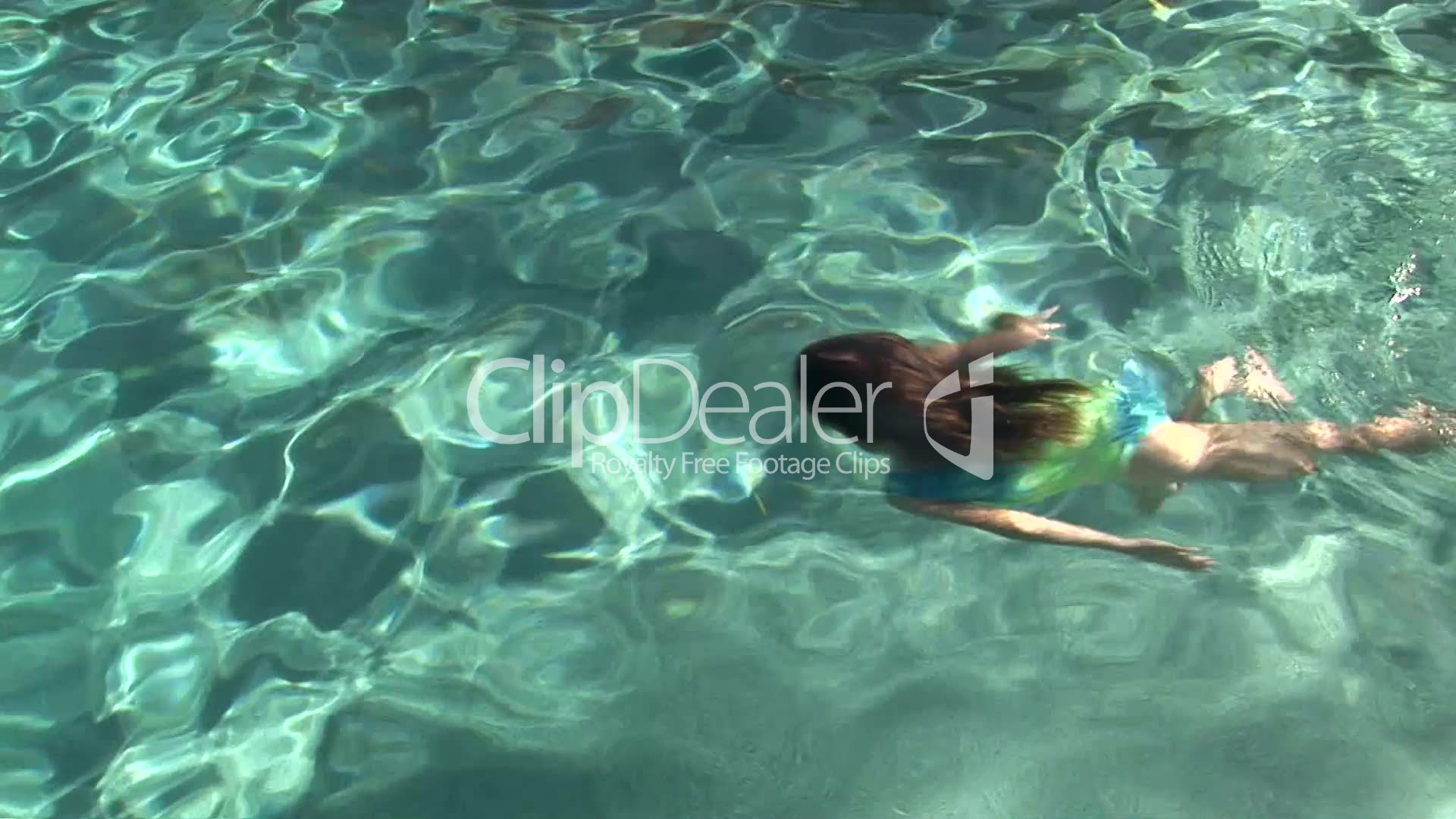 Young Girl Swimming Underwater: Royalty-free video and ...