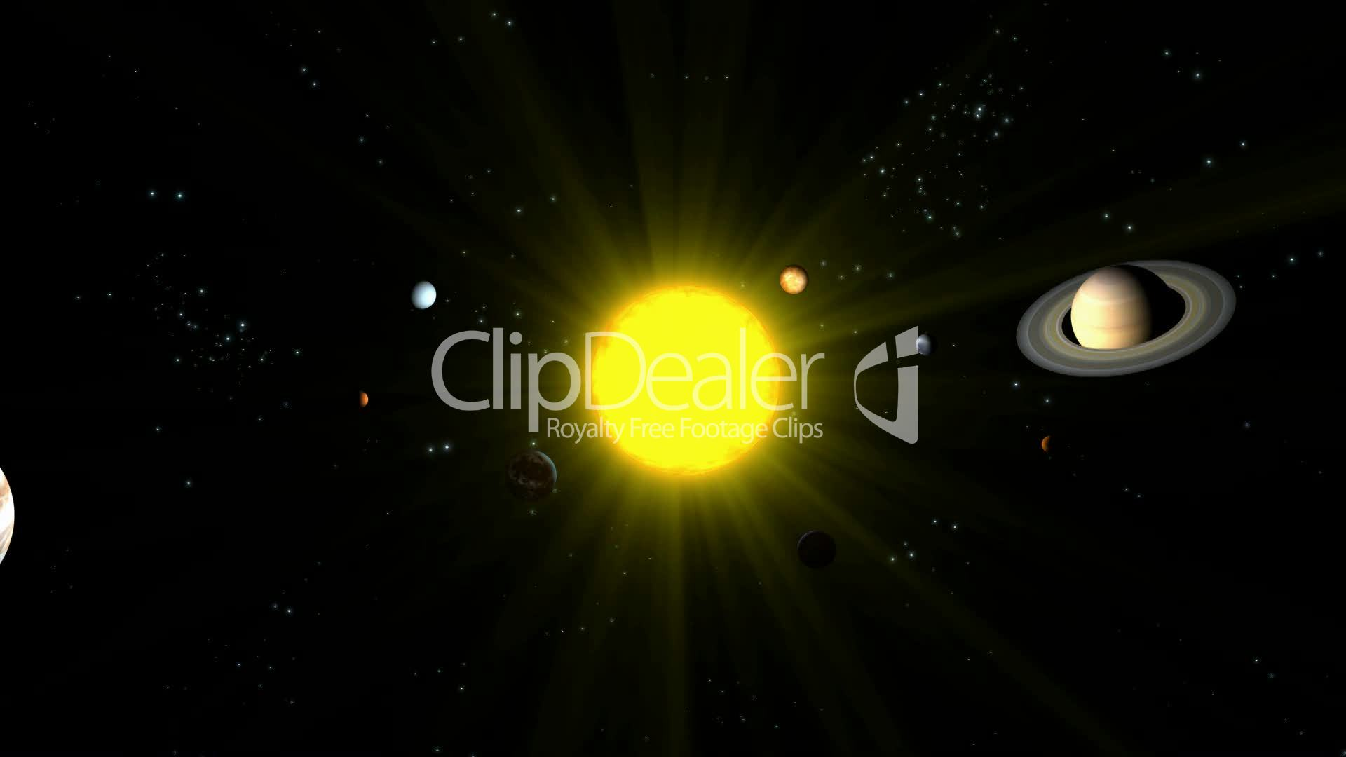 Planets Orbiting Sun HD1080: Royalty-free video and stock ...
