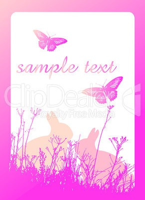Easter background pink