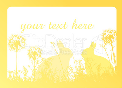 Easter background yellow
