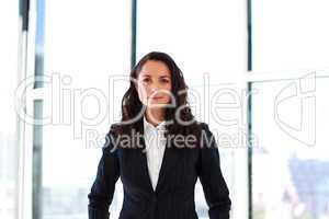 businesswoman standing in office