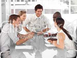 Business Group working and interacting with each other
