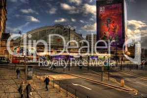 HDR image of Lime Street Station, Liverpool, UK