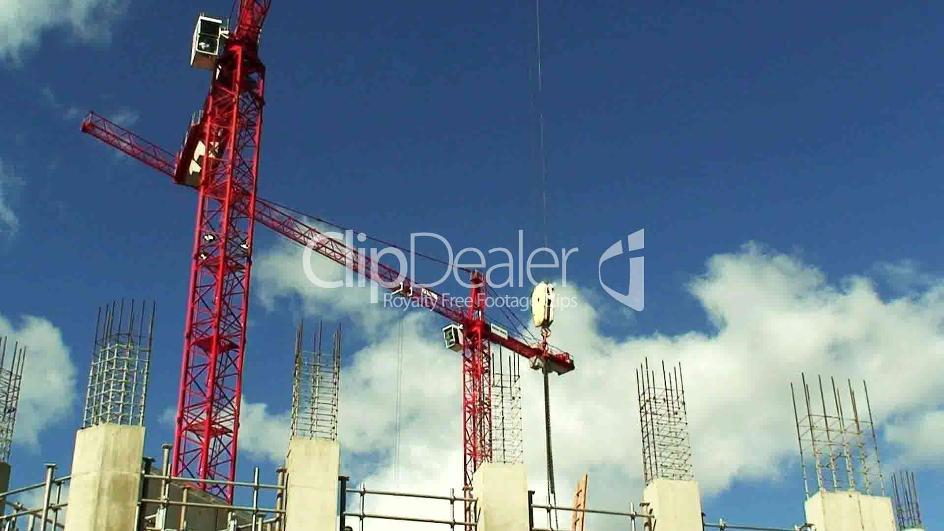 Large Construction Cranes : Large construction cranes royalty free and stock