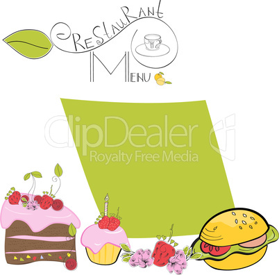 Cartoon template for menu