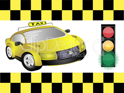 Taxi and traffic light