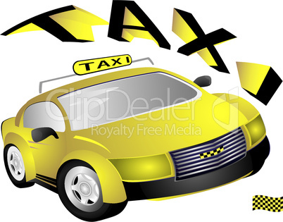 The yellow taxi