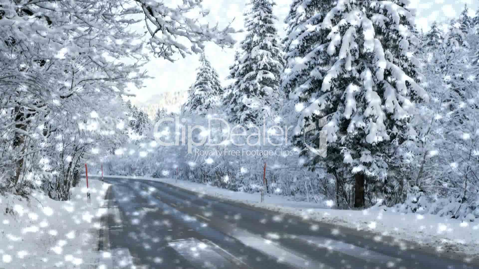 stra e im winter mit schneefall street winter with snow royalty free video and stock footage