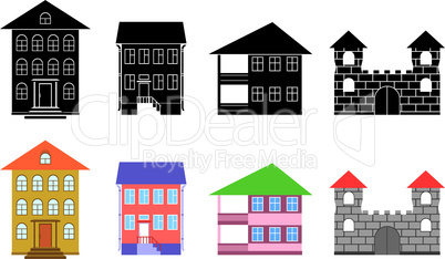 Small houses.