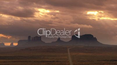 Cloudscape over Monument Valley