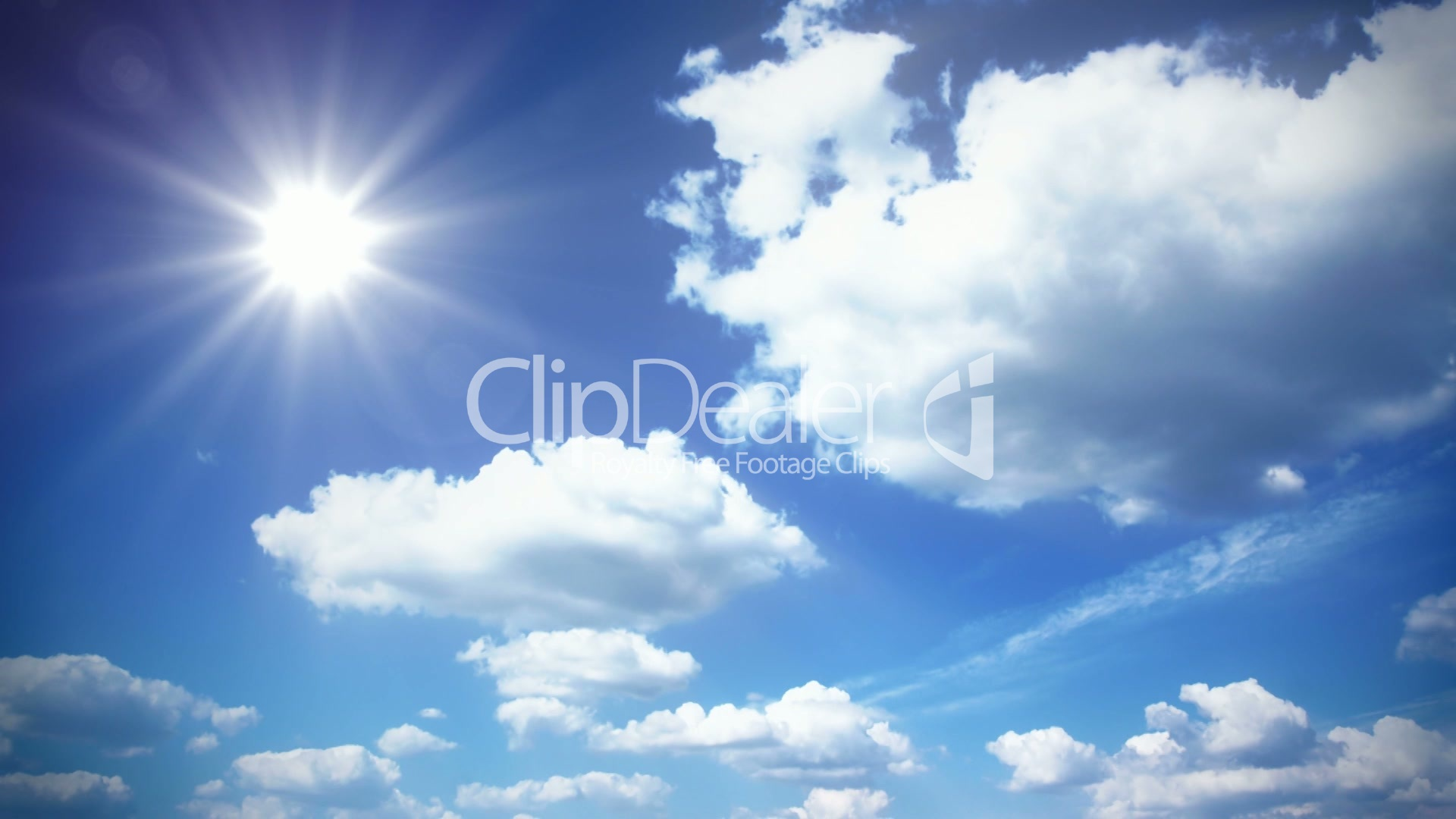 Sunny sky with clouds: Royalty-free video and stock footage