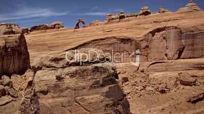(1265P) Iconic Delicate Arch Sunset Timelapse. Arches National Park Moab Utah
