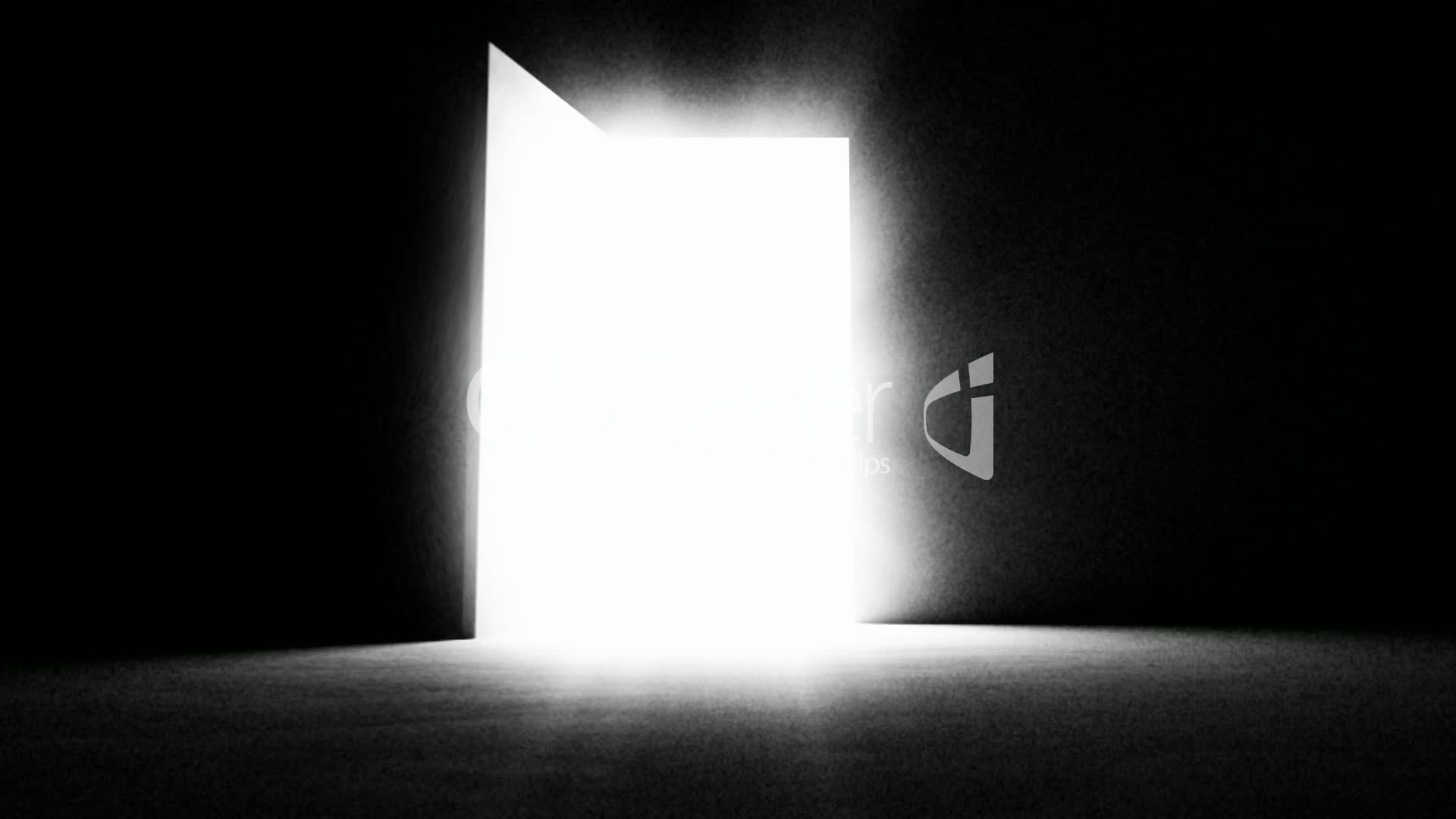 A black door opening and letting in white light royalty for Door with light