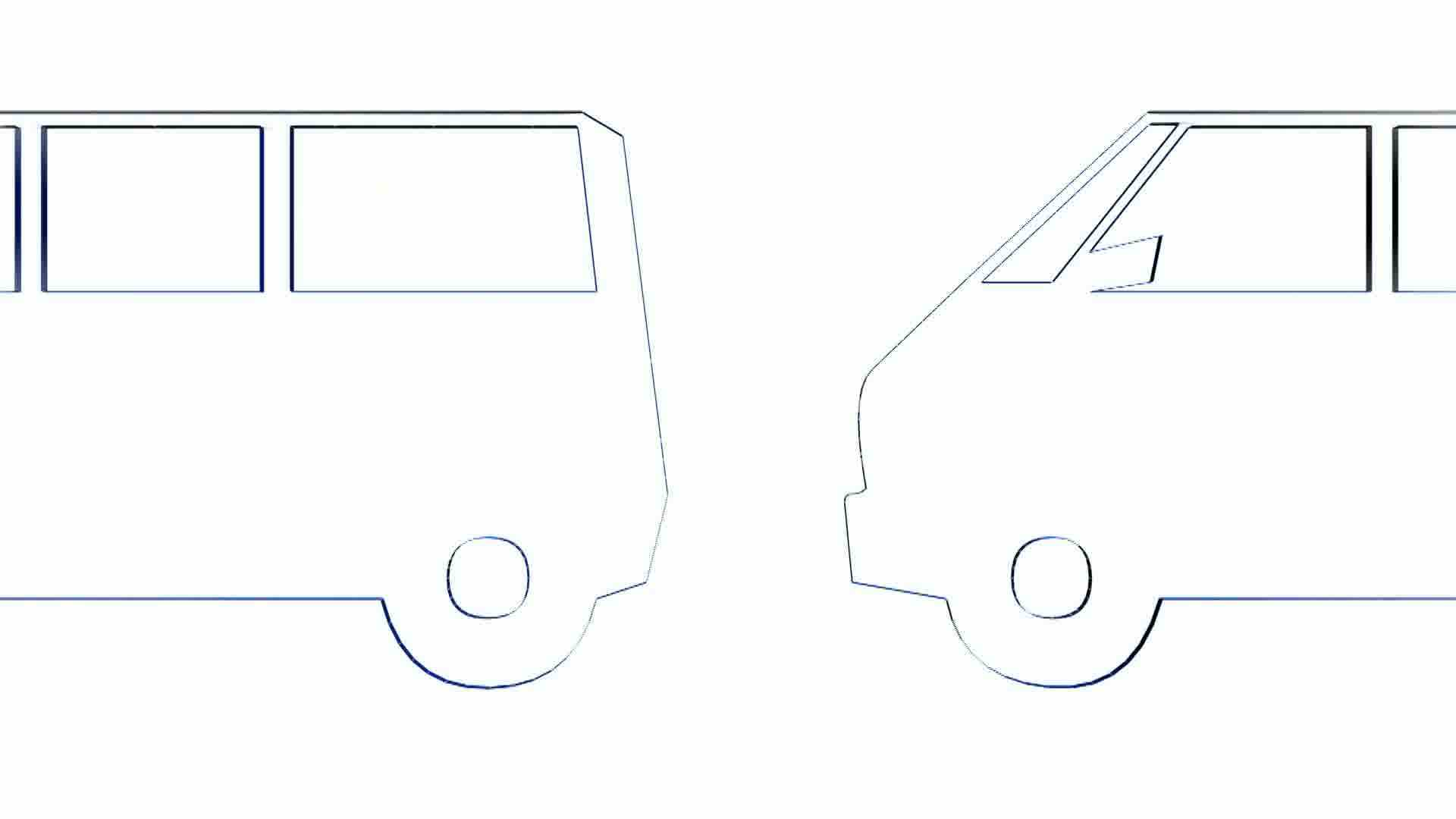 rotation of 3d van bus car transportation bus vehicle