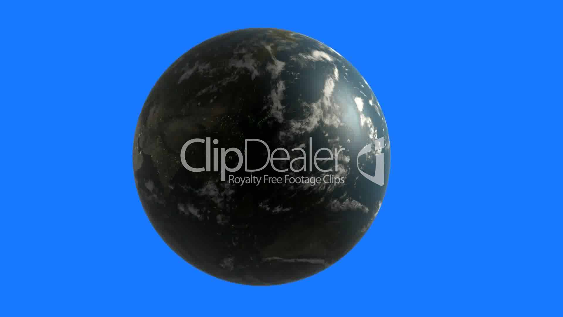 rotation of 3d earth planet world globe continent map
