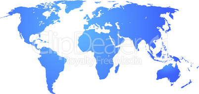 Detailed world map.