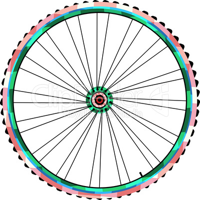 Bicycle wheels isolated on white background. vector