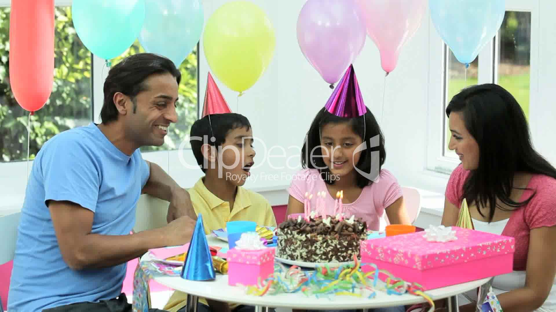 Young Asian Family Birthday Celebrations: Royalty-free video and stock ...