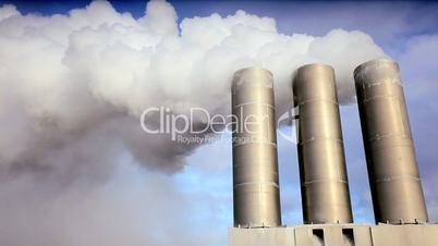 Geothermal Power Station Chimneys