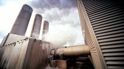 Power Plant Producing Geothermal Energy