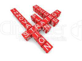 Business concepts in crossword,  featured words are: innovation,