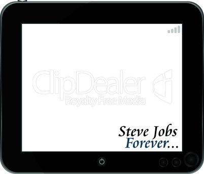 vector touchpad or Tablet PC isolated on white