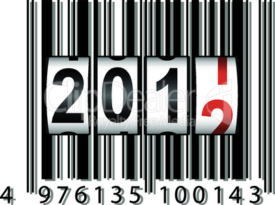 2012 New Year counter, barcode, vector.