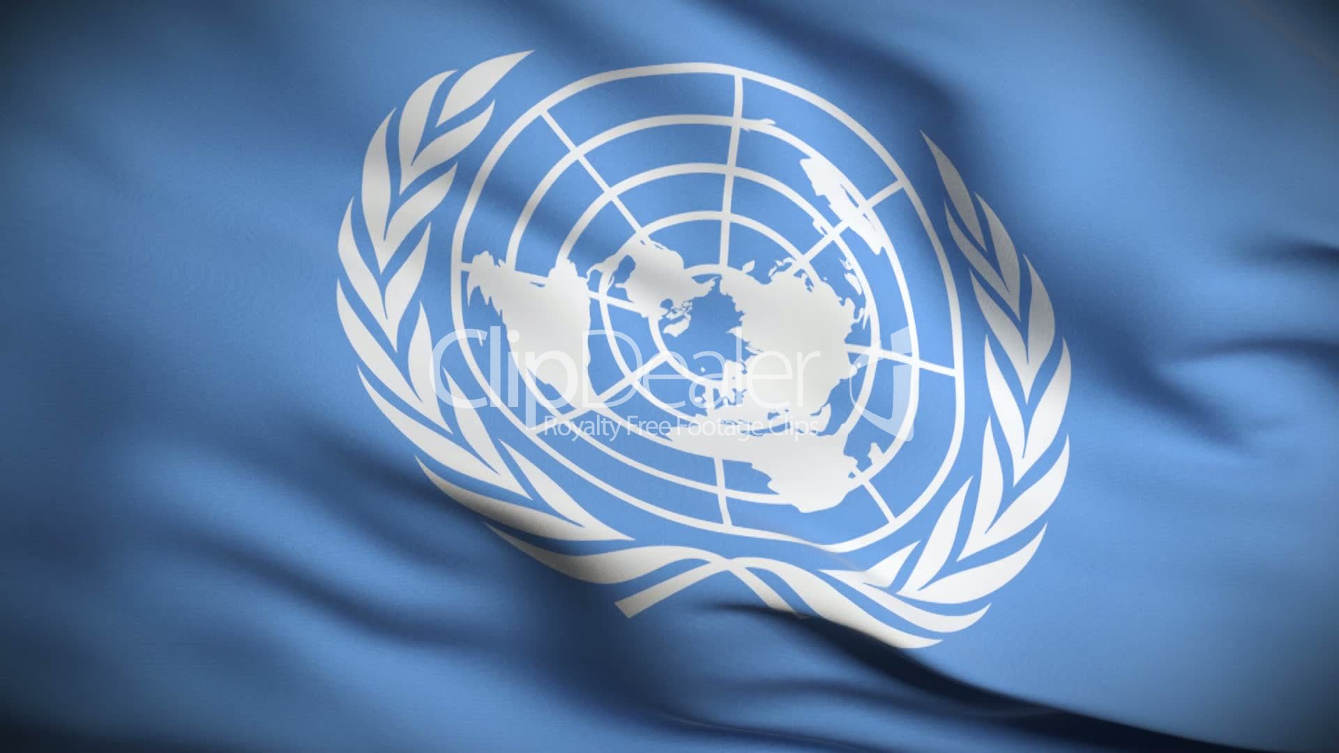 United Nations Flag HD. Looped.: Royalty-free video and stock footage