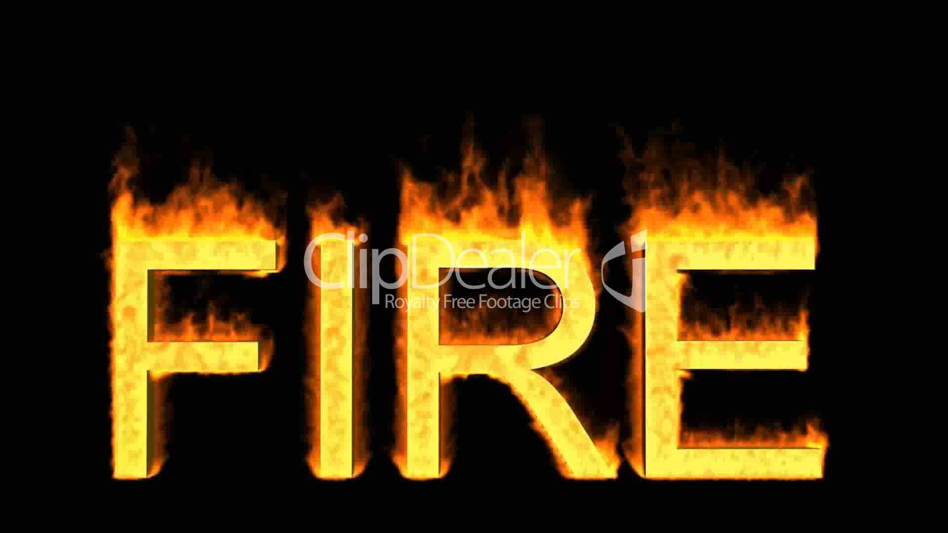 Word Fire In Flames Royalty Free Video And Stock Footage