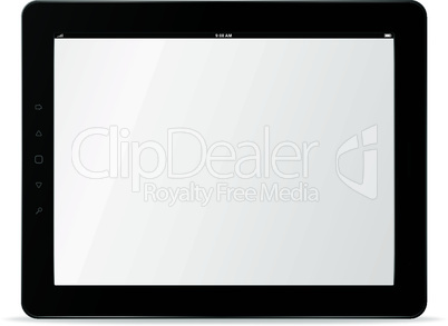 Vector tablet computer. Trendy Ipad theme