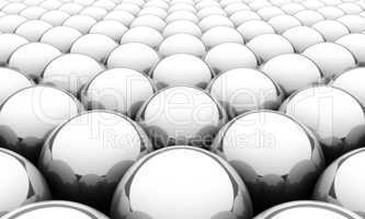 Silver reflection balls background 2
