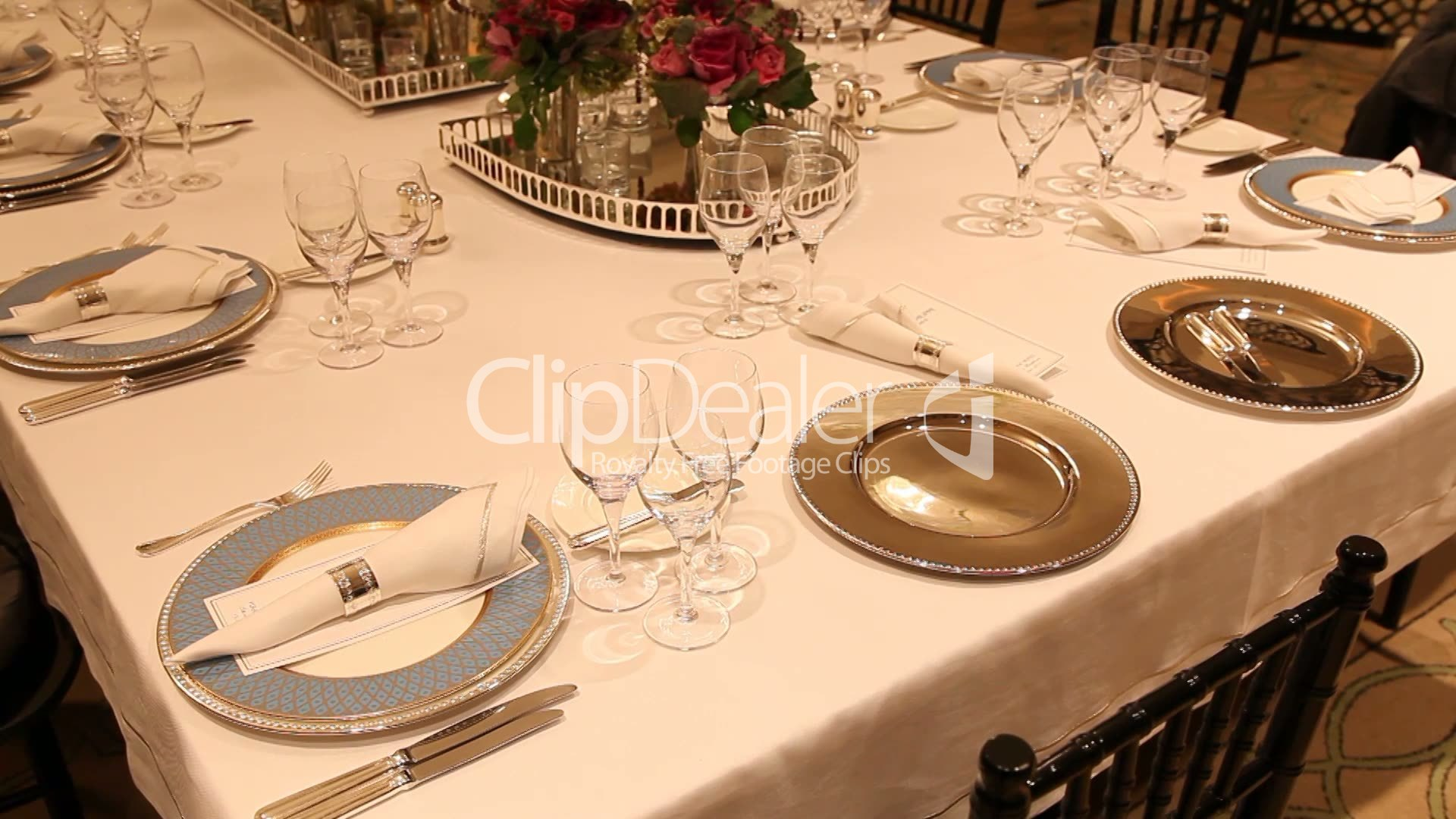 Elegant dinner table setting - Elegant Dinner Settings Elegant Dinner Table Setting Royalty Free Video And Stock
