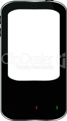 vector cellphone smartphone isolated on white background