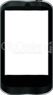 Cell smart mobile phone isolated on white