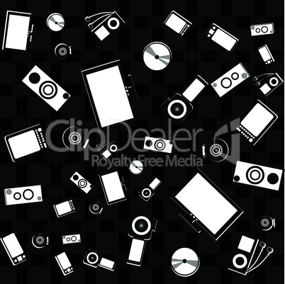 seamless electronics and digital media set wallpaper
