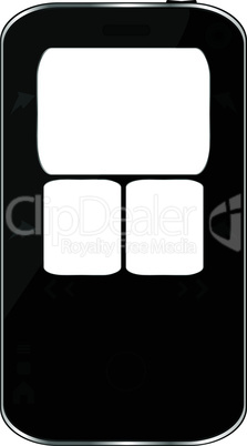 Black vector smartphone isolated on white background
