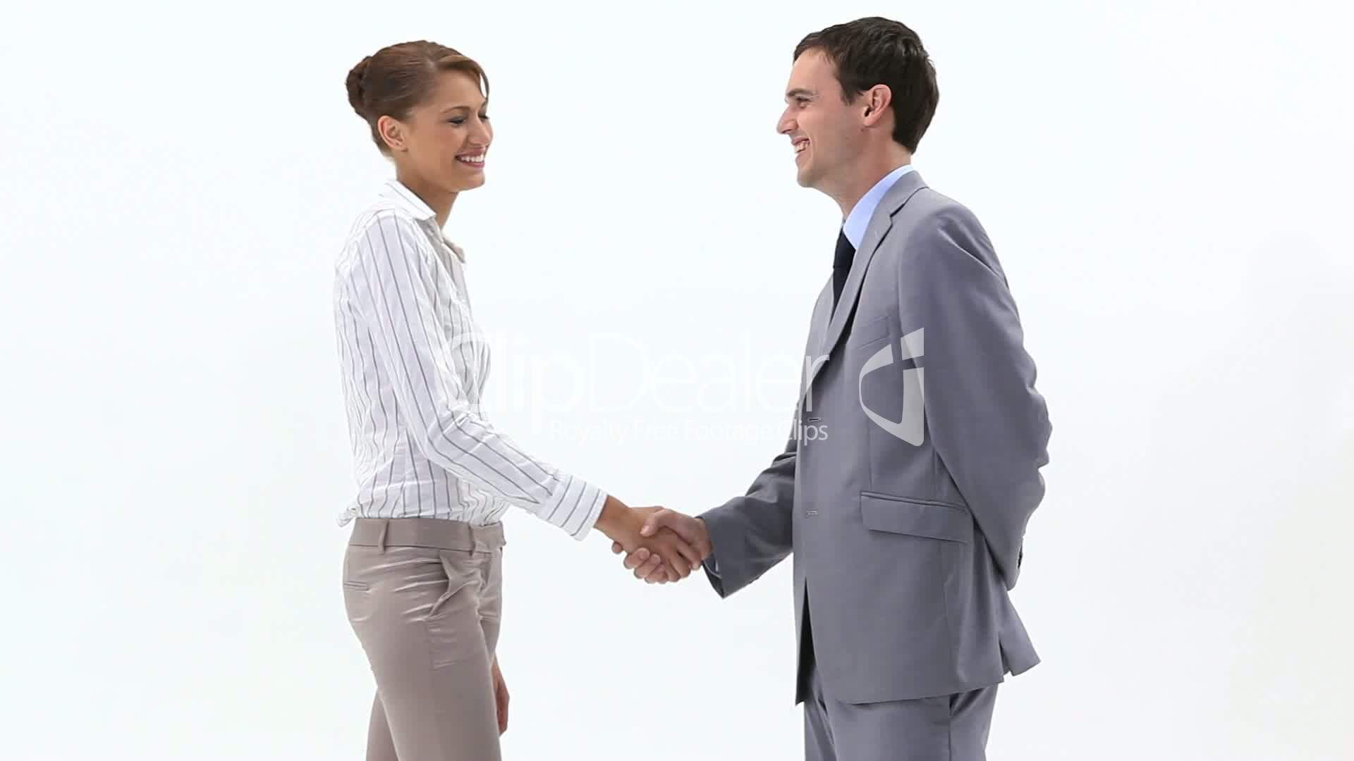 Two business people shaking hands: Royalty-free video and ...