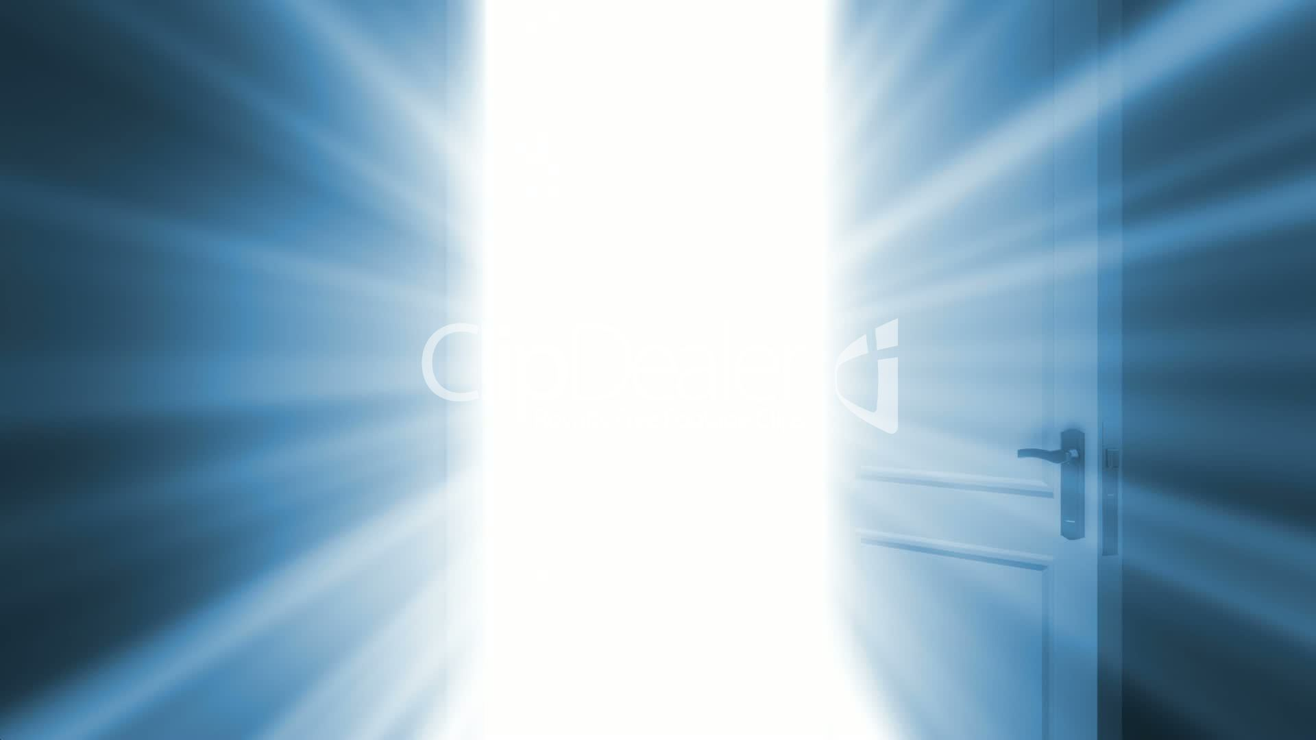 Door Opening To A Bright Light Alpha Channel Is Included
