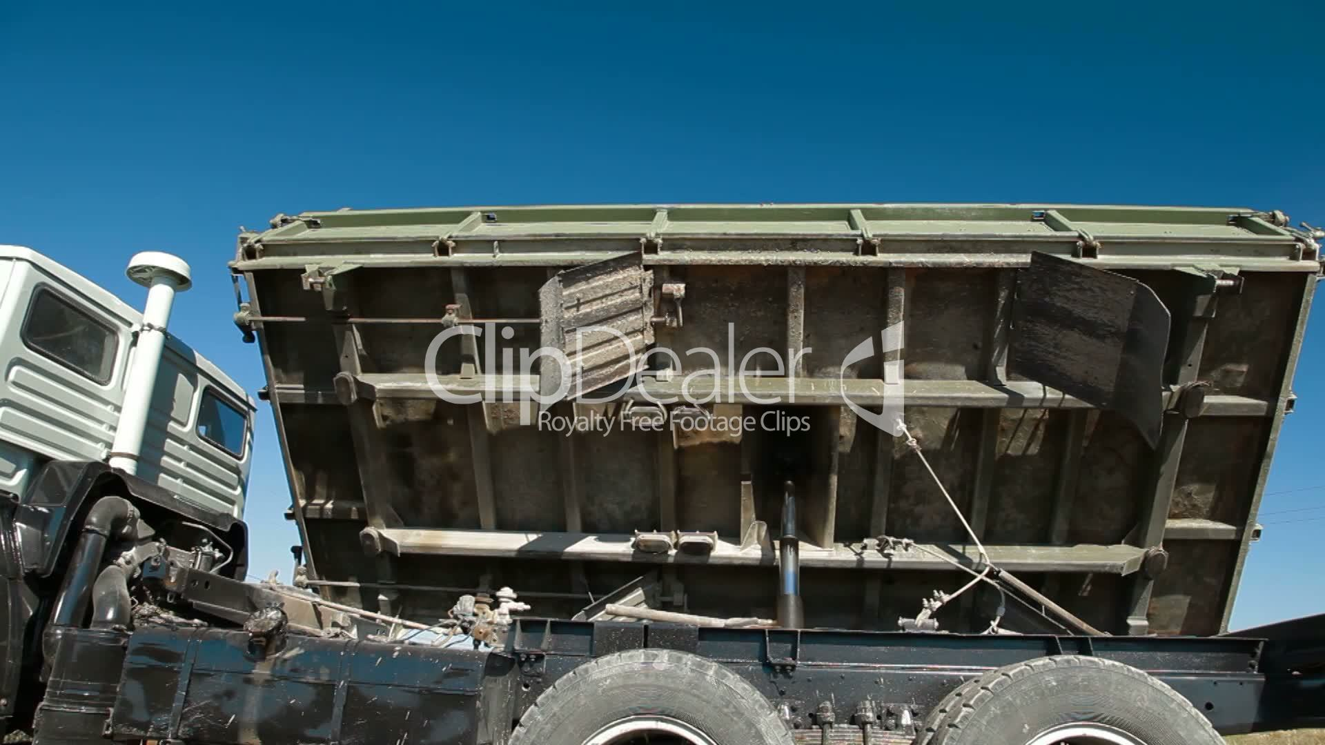 Dump Truck Trucking Contracts Truck Side Dumping: Royalty-free video and stock footage