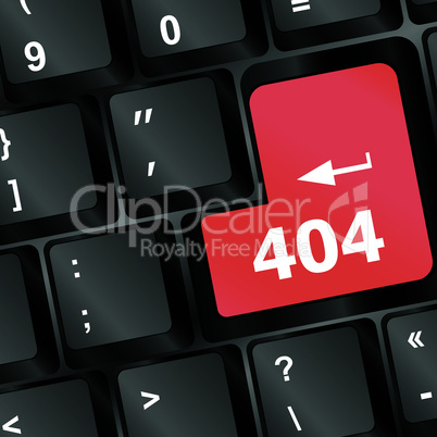 Red error keyboard button close-up - business concept
