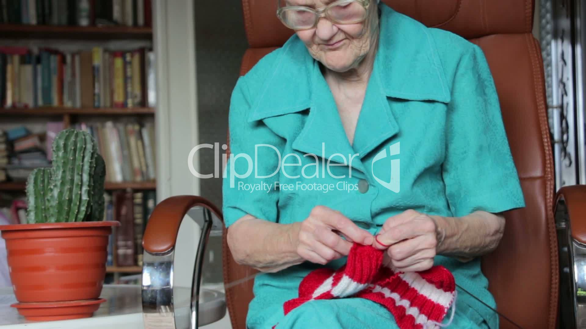 Old Lady Knitting Images : Old woman knitting royalty free video and stock footage