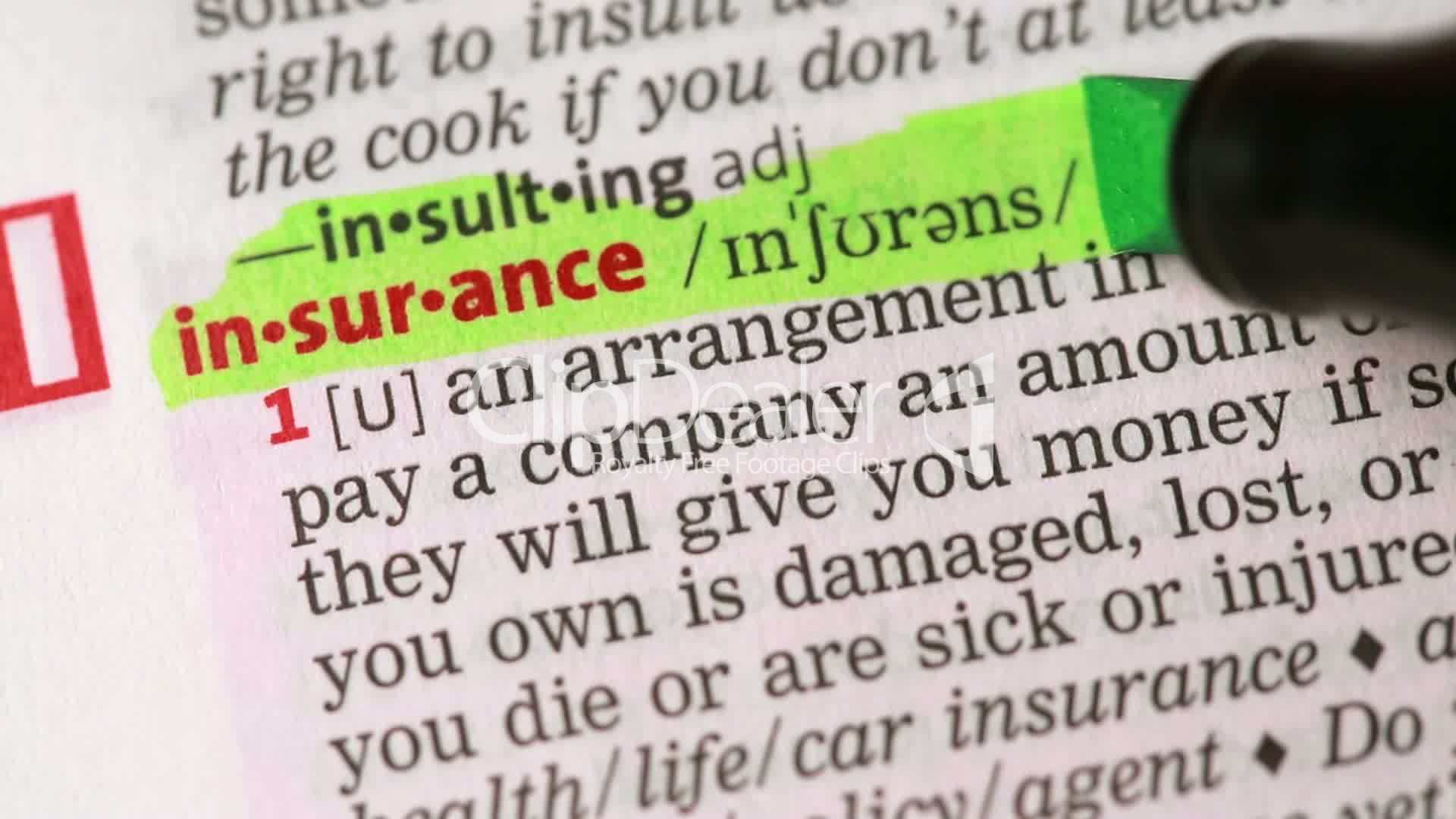 definition of insurance royalty free video and stock footage
