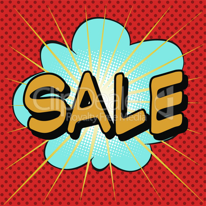 Sale the word comic style