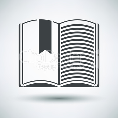 Open book with bookmark icon