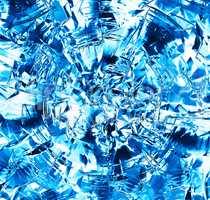 Square blue frozen ice block abstraction backdrop