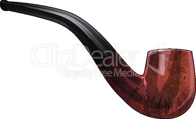 Tobacco pipe vector illustration on a white background