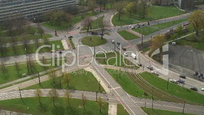 Strassenkreuzung in Dresden