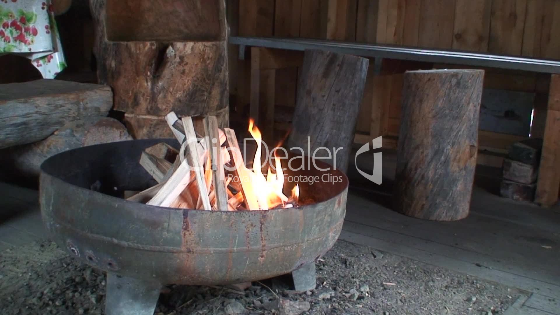 Feuerplatz Im Grillhaus 4 Royalty Free Video And Stock Footage