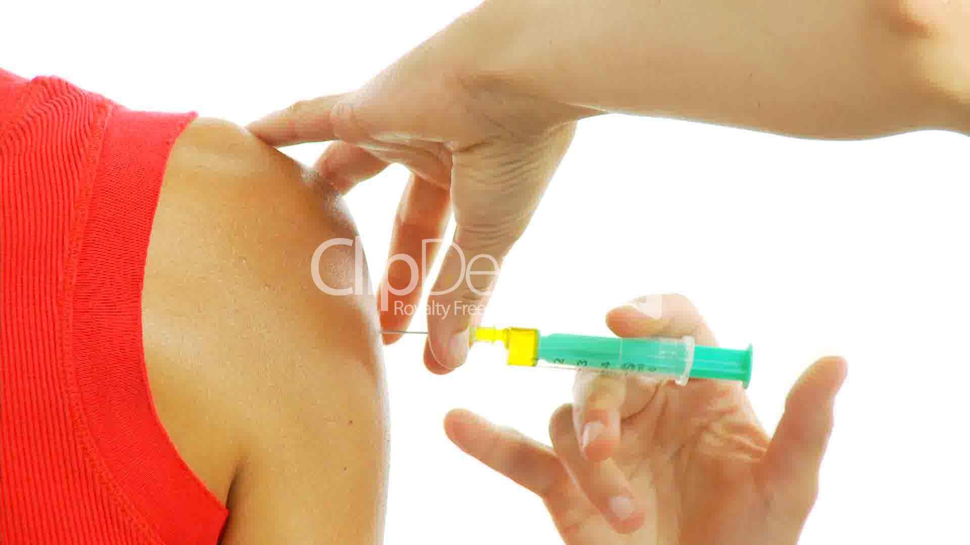 Im Injektion Oberarm