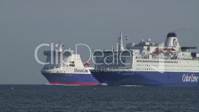 Fährschiffe in Kieler Förde